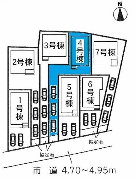 区画図 敷地面積:176.51平米 お車3台駐車可能です!