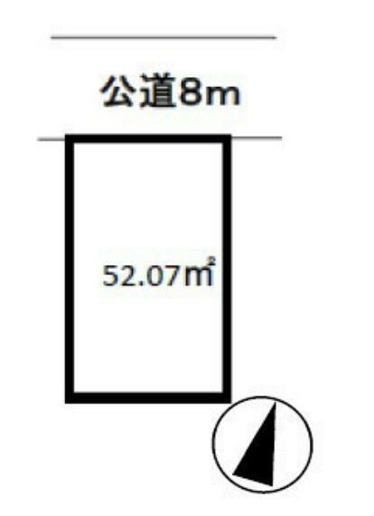 区画図 カースペース1台駐車可能