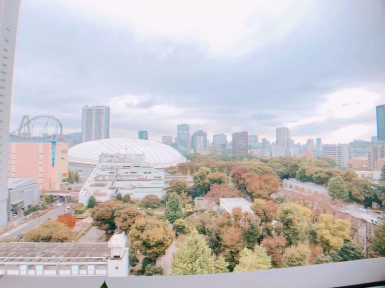 眺望 住戸からの眺望,周辺には「東京ドーム」や「ラクーア」から各種アトラクション、スポーツ施設、更には豊かな緑までが近くに揃い、余暇を多彩なアクティビティーで愉しめます。 (2021年8月)撮影