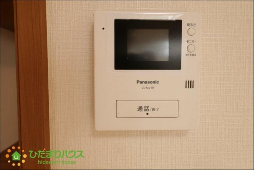 TVモニター付きインターフォン TVモニター付きインターフォンで防犯面も安心です。
