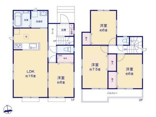 間取り図 【4LDK】建物面積96.88平米