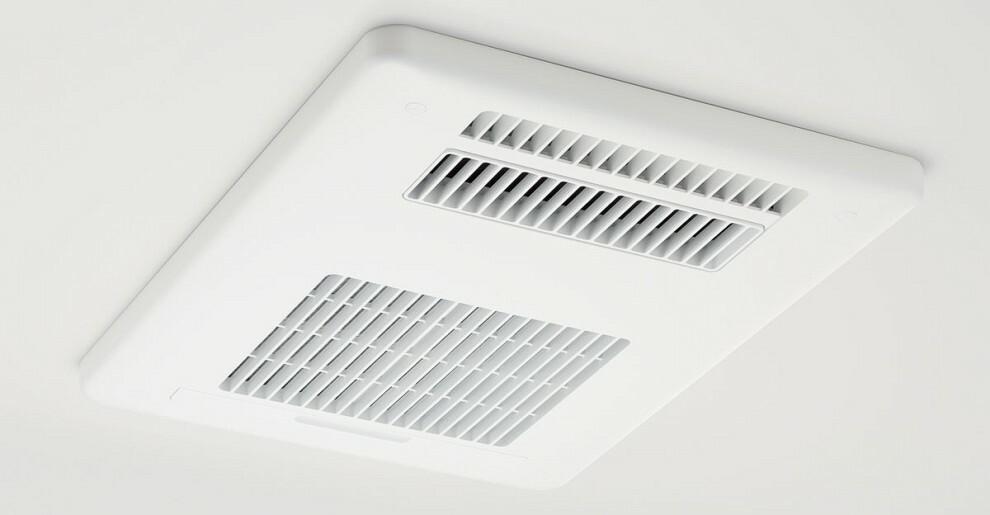【換気乾燥暖房機/100V】  換気・乾燥・暖房機能を備えた浴室。シチュエーションに応じて機能を使い分け、いつでも快適な空間を保ちます。※号棟により採用状況が異なります。