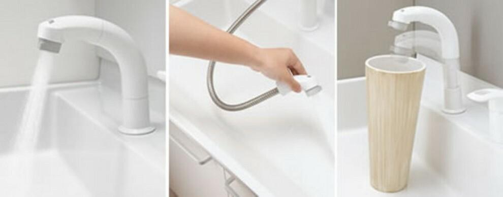 洗面化粧台 シャンプードレッサー、三面鏡全収納など、使いやすさを盛り込んだ洗面化粧台です。嬉しい節水機能付き^^