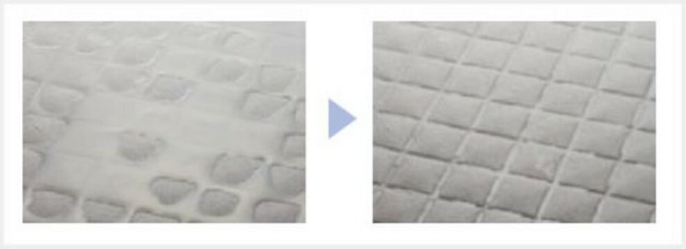 浴室 溝仕様でキレイで滑りにくい水はけの良い床。