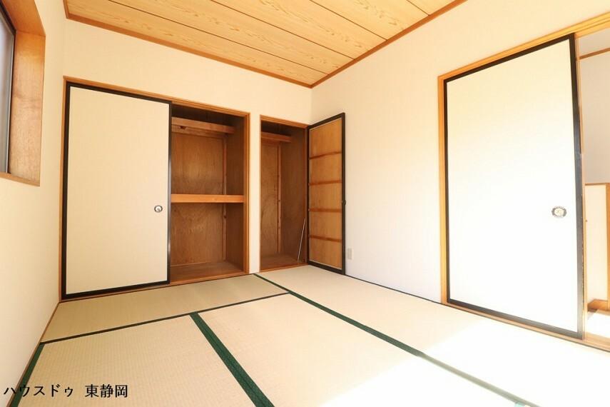和室 6帖和室。やっぱり和室も必要ですよね。客間としても家事・育児スペースとしてもマルチにご使用していただけます。