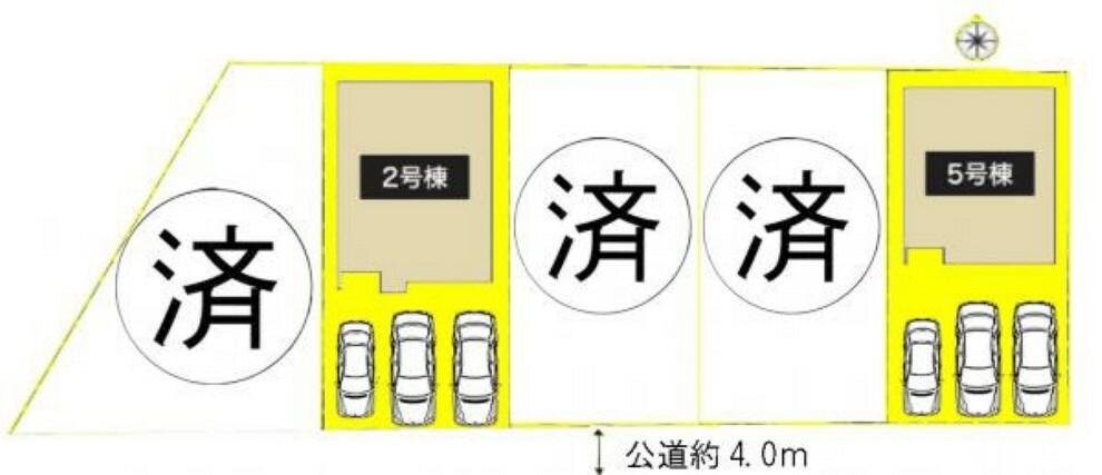 区画図 本物件は5号棟です。