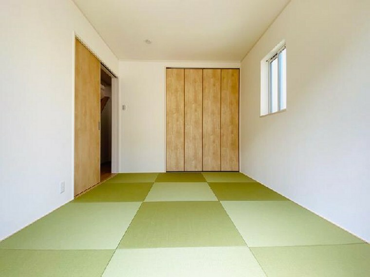 D号棟 和室~同仕様施工例~・・・急な来客時や趣味のお部屋としてお使いいただけます。