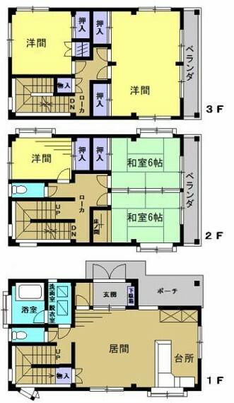間取り図 【間取り図】5LDKの住宅です。2階にトイレもあるため二世帯住宅としてのご利用も可能です。