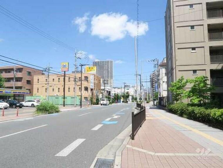 現況写真 敷地北側の前面道路