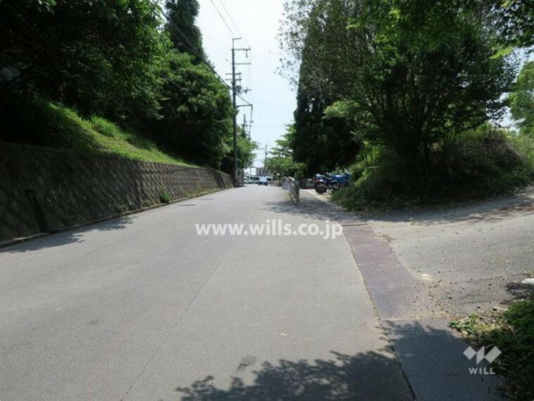 現況写真 物件の北東側前面道路(北東側から)[平成29年6月10日撮影]