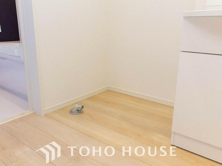 ランドリースペース 清潔感のあるカラーで統一されたランドリースペース。気持ちの良い空間で家事もはかどります。