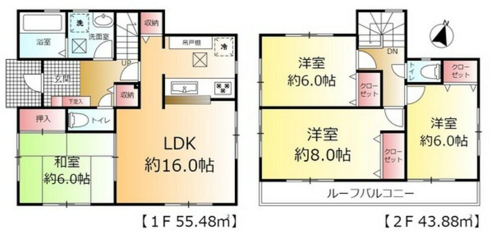 間取り図 全居室6帖以上のゆったりとした4LDK!
