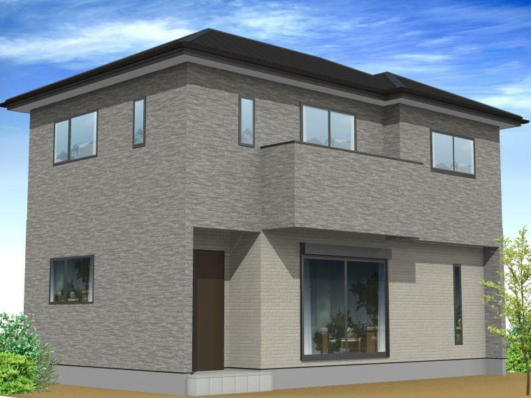 完成予想図(外観) 総土佐桧 ・三州瓦 ・建物20年保証 ・地盤20年保証 ・耐震等級3仕様 ・全棟マイクロガード標準仕様 ・全棟剛床 ・駐車場2台