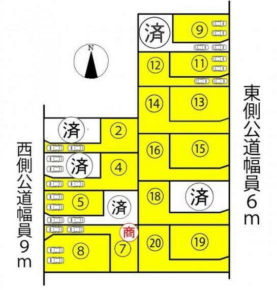 区画図 ●本物件は19号棟です●