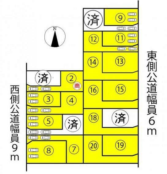 区画図 ●本物件は14号棟です●