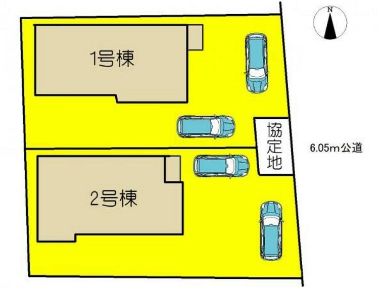 区画図 本物件は1号棟です。