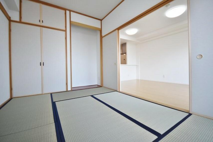 和室 柔らかい畳が心地よい和室