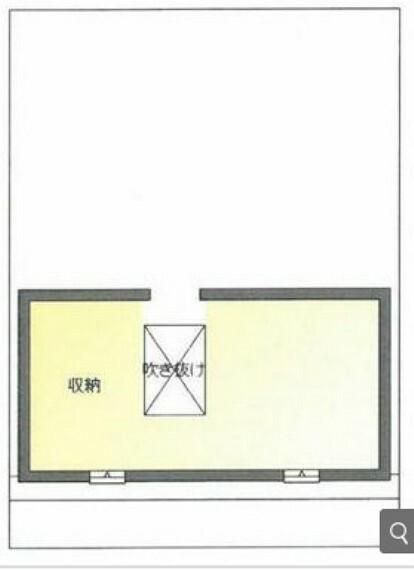 間取り図 3F 屋根裏収納