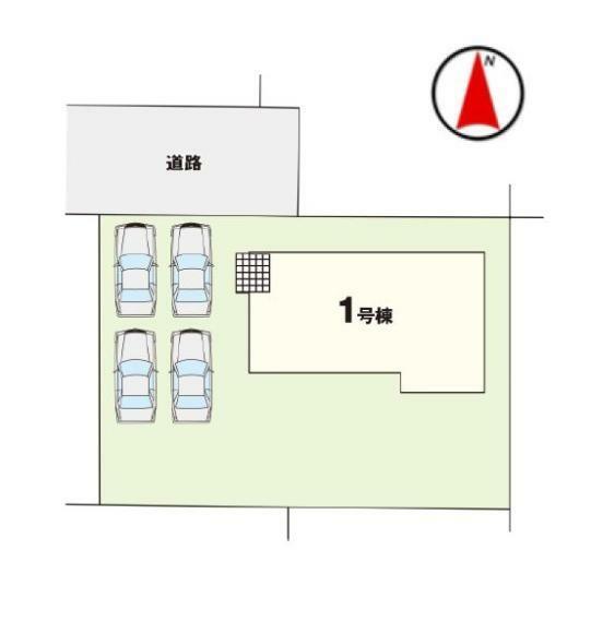 区画図 【1号棟区画図】土地面積247.72平米(74.93坪)