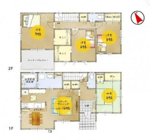 間取り図 各室収納+フロア収納+床下収納など、充実収納で暮らしをサポート!