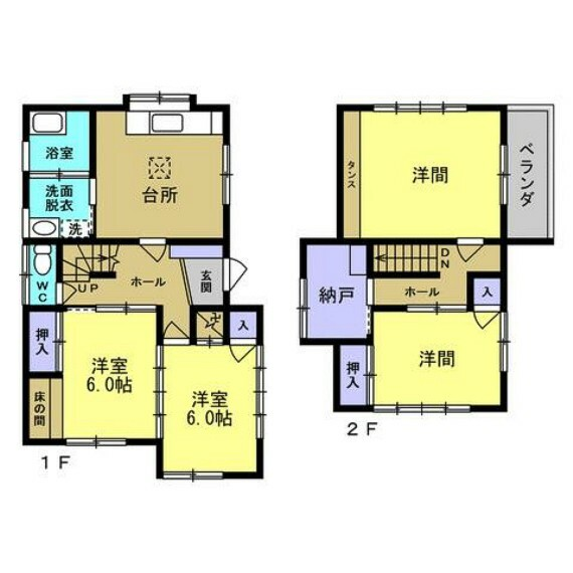 間取り図 間取図図】4SDkのオウチです。1階の和室は洋室に変更してあります。