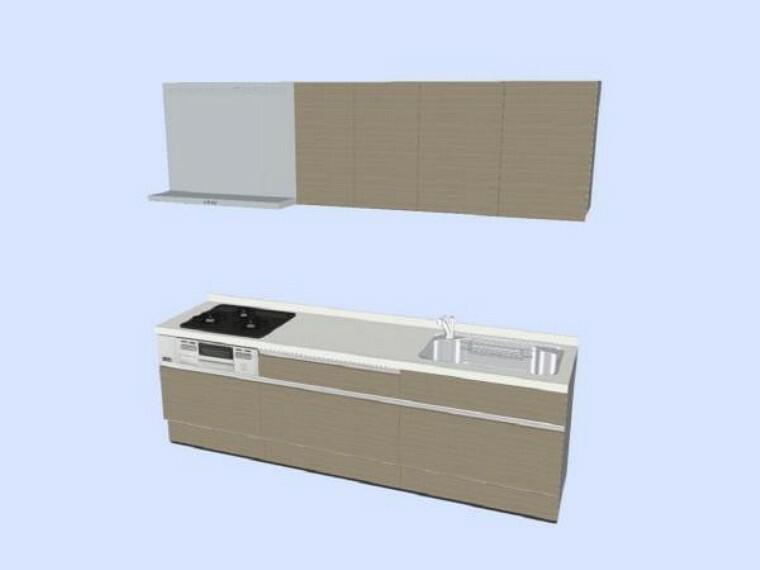 キッチン 【同仕様写真】(変更の可能性あり)キッチンはハウステック製の新品に交換予定です。引出が7つの嬉しい収納タイプ。天板は傷にも強い人工大理石仕様なので、毎日のお手入れが簡単です。