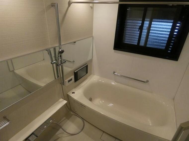 浴室 TV付のバスルーム。プラズマクラスターの浴室暖房乾燥機。