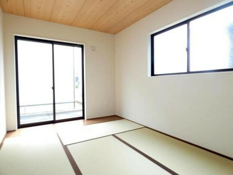 一部屋あるとうれしい和室。客間、晩酌、家族団らんなど色々使えますね。