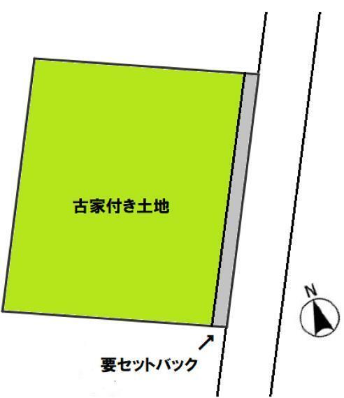 土地図面 敷地面積206.49平米。建築条件ありません。自由設計プランお作りいたします。