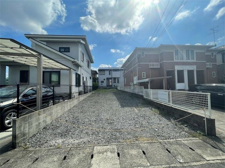現況外観写真 10/9撮影。中村区新富町5丁目に限定1棟の新築分譲住宅が誕生します
