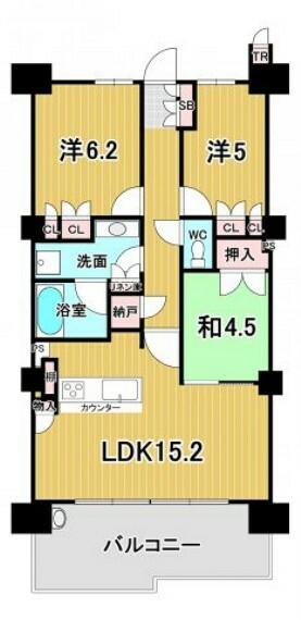 間取り図 専有面積:壁芯70.79平米、3LDK+S
