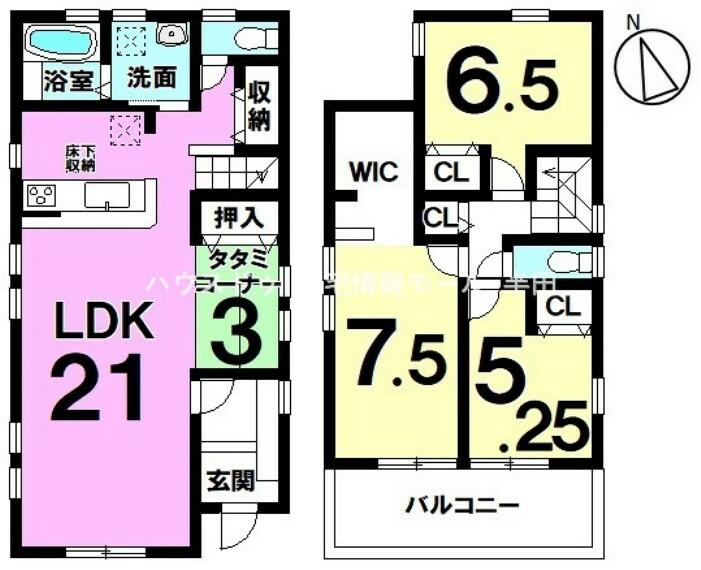 間取り図  半田市南大矢知町4丁目  ご家族が繋がるリビング階段の住まい