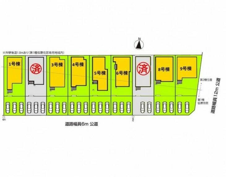 区画図 全体区画図 【名古屋市守山区大字上志段味字東谷】