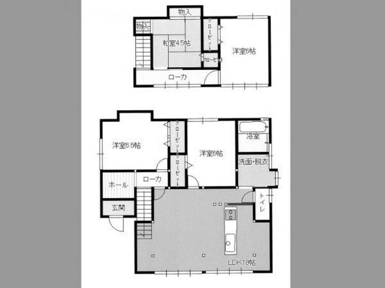 間取り図 【リフォーム後(予定)/間取り図】和室の続間をLDKへと間取り変更するなど、若い方でも住みやすいお家へと仕上げます。