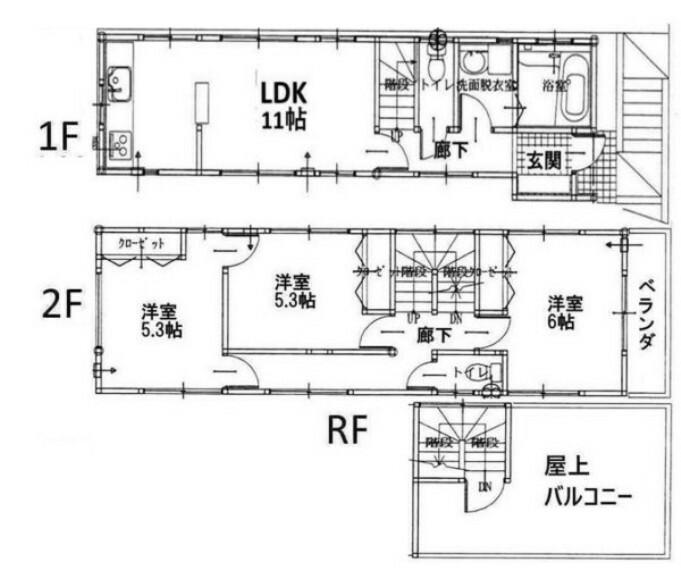 参考プラン間取り図 参考プラン 建物 1450万円 建物面積 72.66平方メートル
