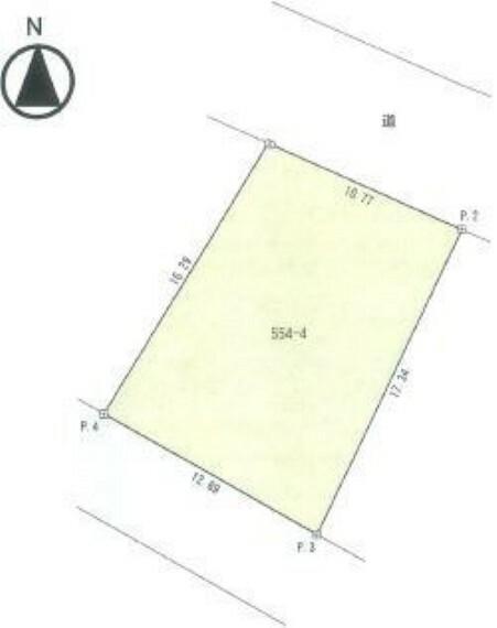 区画図 区画図です。約60坪のゆとりある敷地です。