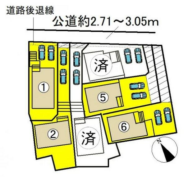 区画図 ●本物件は6号棟です●