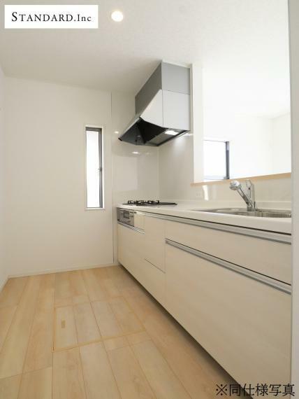 キッチン 【同仕様写真】システムキッチン・浄水器一体型ハンドシャワー水栓・床下収納