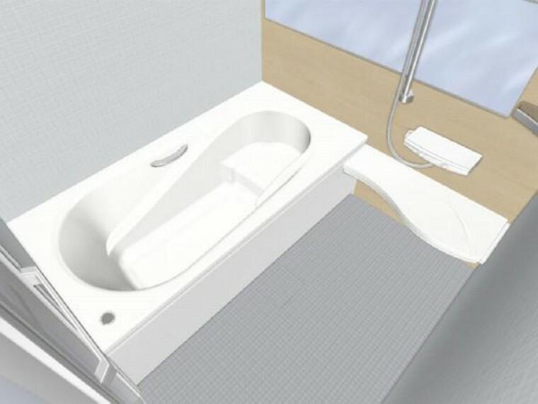 専用部・室内写真 【同仕様写真】浴室はLIXIL製の新品のユニットバスに交換します。足を伸ばせる1坪サイズの広々とした浴槽で、1日の疲れをゆっくり癒すことができますよ。