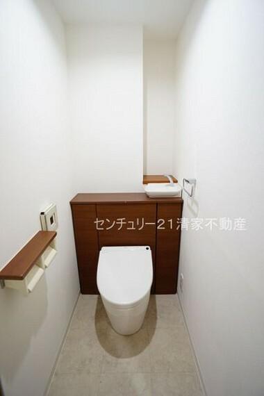 トイレ 掃除がしやすいタンクレストイレ!(2021年09月撮影)
