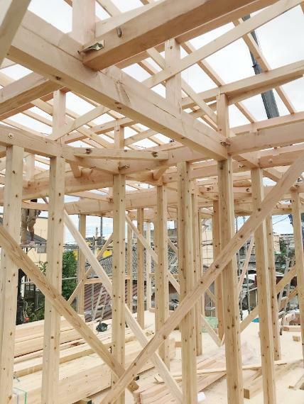 構造・工法・仕様 木材をプレカットすることで住宅品質の均一化を図っています