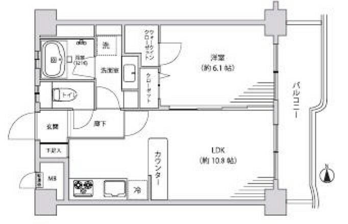 間取り図 お部屋の間取り図でございます!洋室には、豊富な収納スペースがあり//