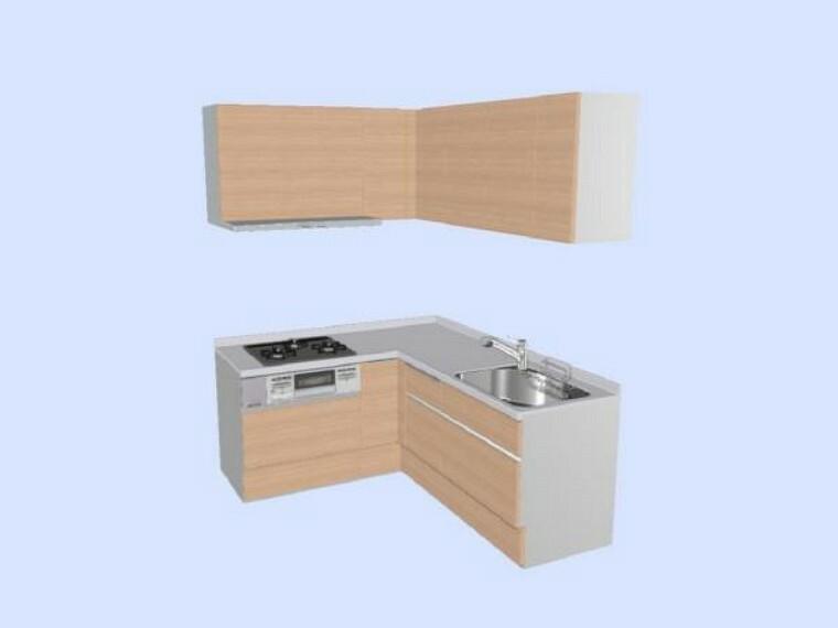 【同仕様写真】キッチンはLIXIL製の新品に交換します。天板は人造大理石製なので、熱に強く傷つきにくいため毎日のお手入れが簡単です。