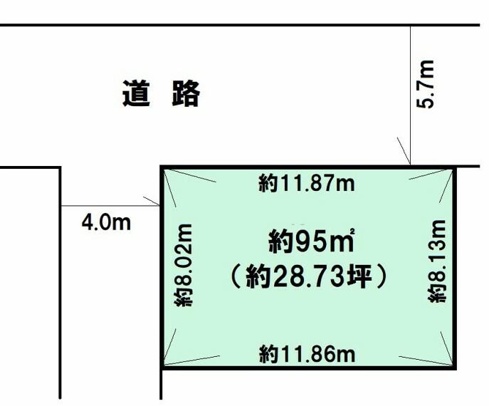 土地図面 北西角地 敷地約28坪 お好きなプランで夢のマイホームはいかがでしょうか お気軽にお問い合わせください