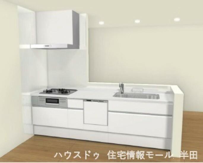 同仕様写真(内観) キャビネットが備わったシステムキッチン ※キッチンイメージ図