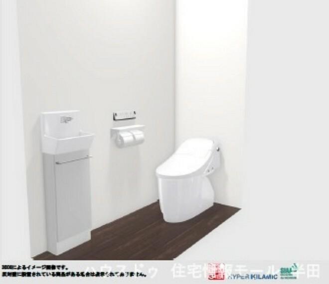 同仕様写真(内観) お掃除がしやすいフチレス形状のタンクレストイレ ※トイレイメージ図