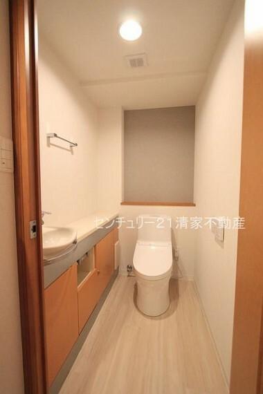 トイレ 手洗い場付きの広いトイレ!(2021年09月撮影)