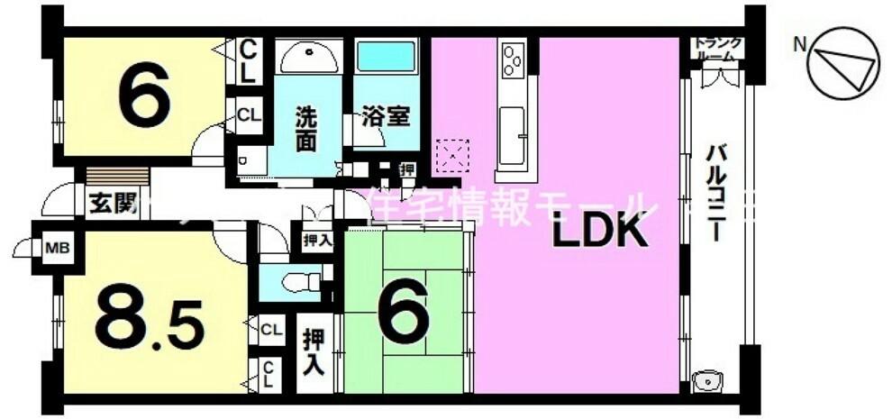 間取り図 9階建て  総戸数45戸