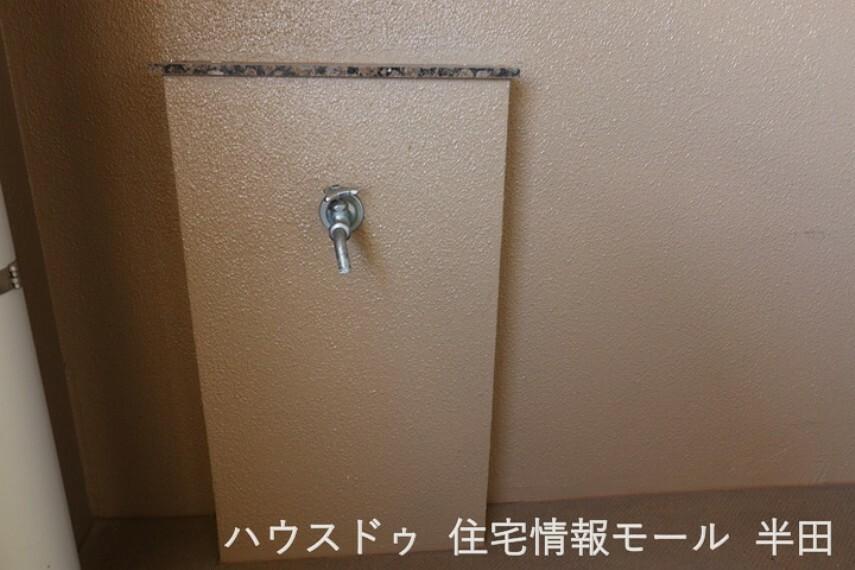 バルコニーには水栓がついています。