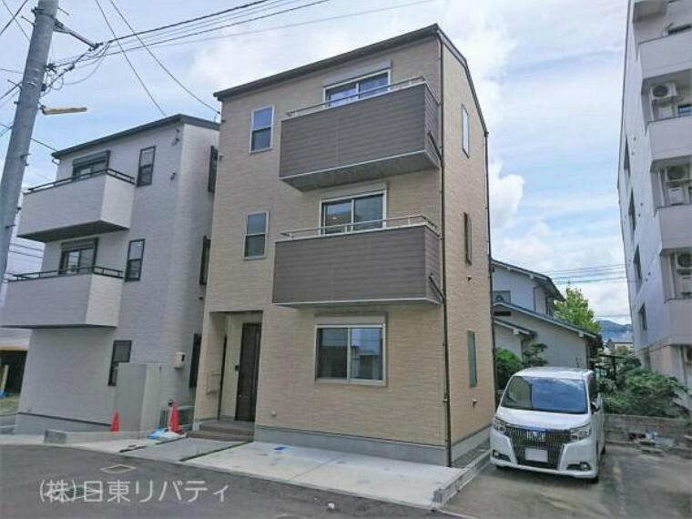 外観写真 建築後未入居物件!!リビングが2階の都市型3階建てのお家!!